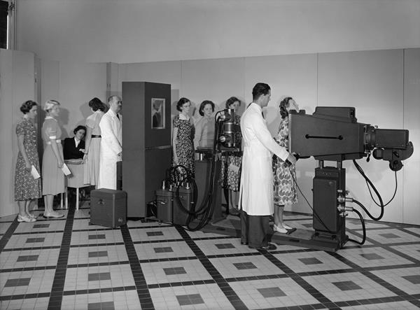 Screening Philips staff for or tuberculosis in 1951 in the Netherlands