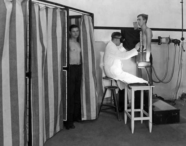 Early Philips diagnostic X-ray solution used in 1933 in the Netherlands