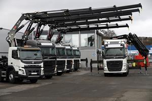 Multiple HIAB loader cranes