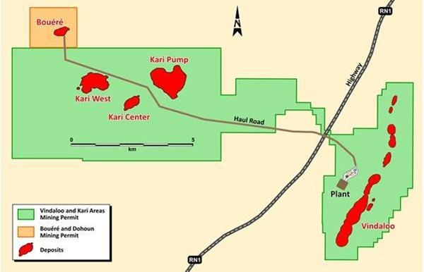 Figure 1: Map of Hounde Mining Permits
